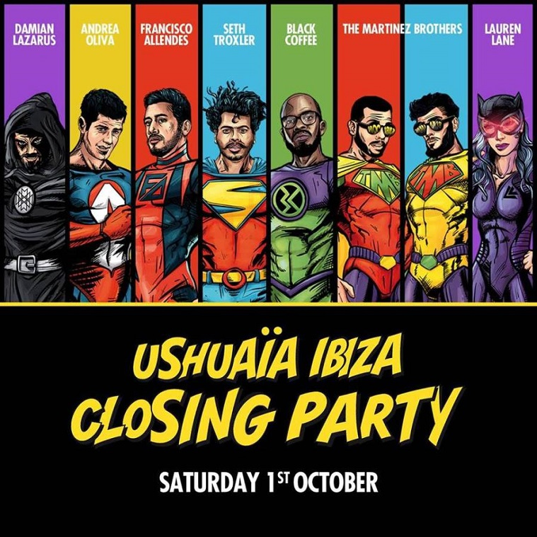 Ushuaïa Ibiza anuncia cartel para su closing party
